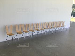 うさぎみたいで可愛い椅子の写真・画像素材[1267170]
