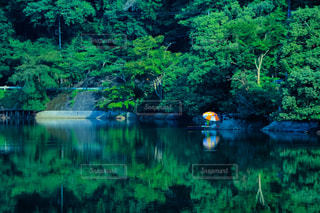湖畔の写真・画像素材[1392848]