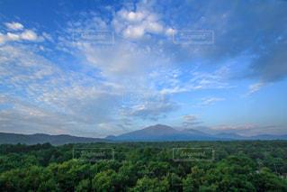 北軽井沢からの浅間山の写真・画像素材[1393001]