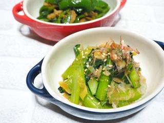 小松菜と白葱のゴマ炒めの写真・画像素材[1624209]