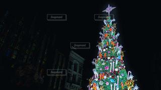 ライトアップしたクリスマス ツリーの写真・画像素材[1653209]