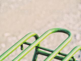 自転車のリアパイプキャリアの写真・画像素材[1691970]