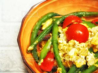 夏野菜の卵炒めの写真・画像素材[2286652]