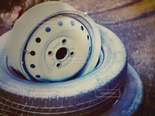 粗大ゴミ タイヤホイールの写真・画像素材[3520095]