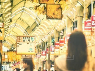 京都市の商店街の写真・画像素材[3892585]