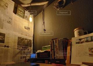 本のある部屋の写真・画像素材[3157977]