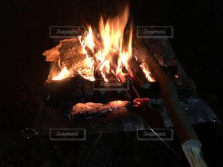 焚き火の写真・画像素材[1258745]