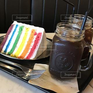 虹色cake❤︎の写真・画像素材[1257118]