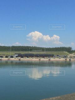 真夏の漁港の写真・画像素材[1263612]