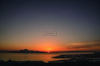 有明の夕陽の写真・画像素材[1258305]