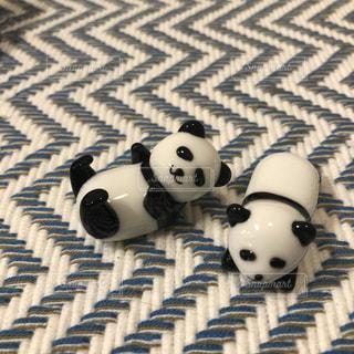 パンダのかわいい箸置きの写真・画像素材[2099435]