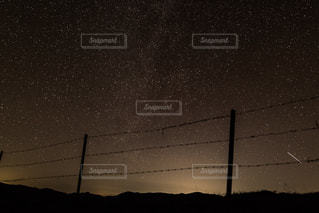 Starry nightの写真・画像素材[2597473]