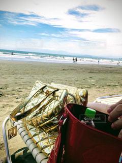 ビーチとバッグの写真・画像素材[1440322]