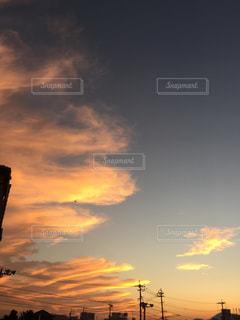 夕方の雲の写真・画像素材[1268329]