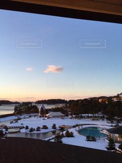 雪が積もっている風景の写真・画像素材[1268352]