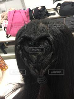 髪でデザイン編み込みの写真・画像素材[1277925]