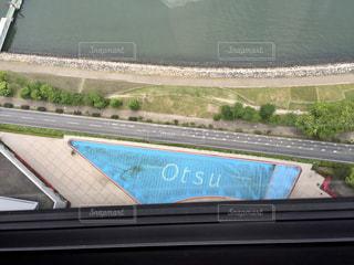 大津プリンスホテルの最上階レストランからの眺めの写真・画像素材[1720354]