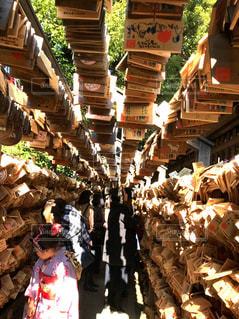 川越氷川神社の絵馬トンネルの写真・画像素材[1756821]