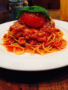 トマトとにんにくのスパゲティの写真・画像素材[1767047]