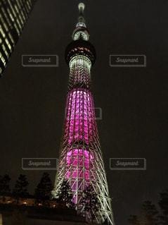 東京スカイツリーのライトアップの写真・画像素材[1783298]