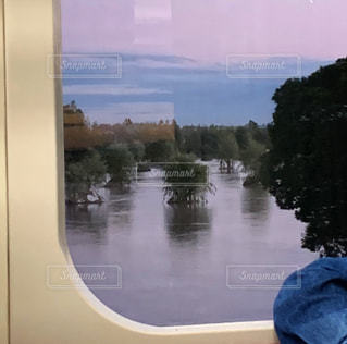 台風19号で氾濫したゴルフ場の写真・画像素材[3284297]