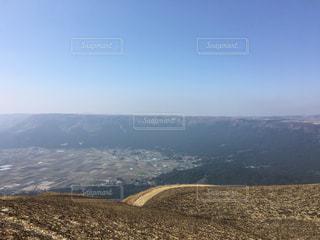 熊本地震あとの大観峰です!野焼きされていました!!の写真・画像素材[1266648]