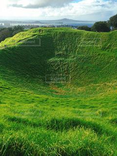 オークランドの観光名所、Mt.Edenの写真・画像素材[1304828]