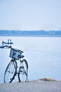 海と自転車の写真・画像素材[1328171]
