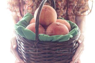 美味しい桃の写真・画像素材[1371876]