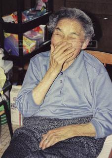 おばあちゃん大好き。の写真・画像素材[1401685]