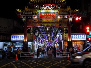 華西街観光夜市の写真・画像素材[1677280]