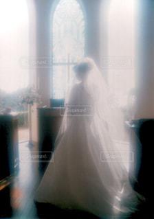 花嫁シルエットの写真・画像素材[1848479]