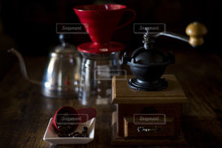 我が家のコーヒーセットの写真・画像素材[1872048]