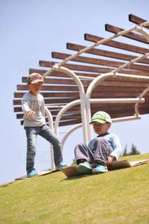 楽しい外遊びの写真・画像素材[2012828]