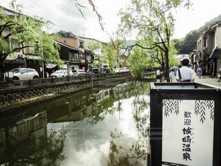 城崎温泉の街並みの写真・画像素材[4055630]