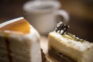 ショートケーキとコーヒーの写真・画像素材[4180205]