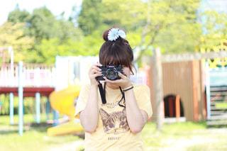 カメラ女子の写真・画像素材[1264123]