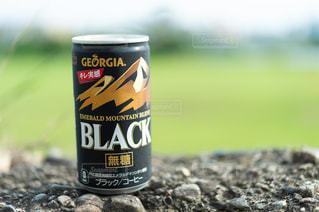 缶コーヒーのアップの写真・画像素材[1274382]