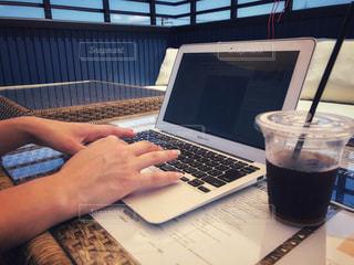 カフェで作業中〜♪の写真・画像素材[1277431]