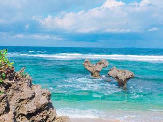 古宇利島 ハート岩♡の写真・画像素材[1656265]