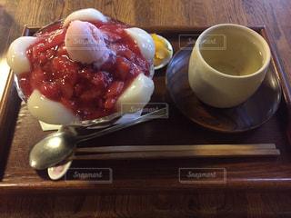 円山茶寮のいちごぜんざいの写真・画像素材[1272585]