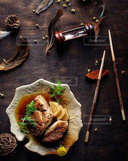 モダンでおしゃれな和食【豚の角煮】の写真・画像素材[1274021]