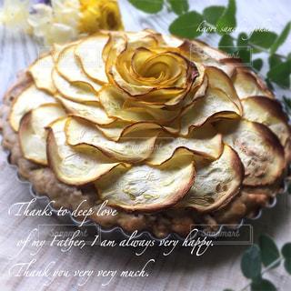 ズッキーニ薔薇のパウンドケーキの写真・画像素材[1276176]