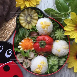 夏のお弁当の写真・画像素材[1317554]