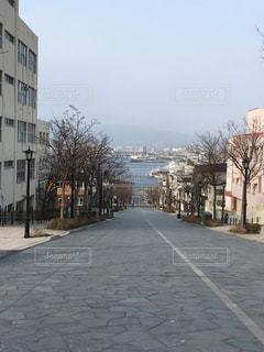 函館の坂の写真・画像素材[1281509]