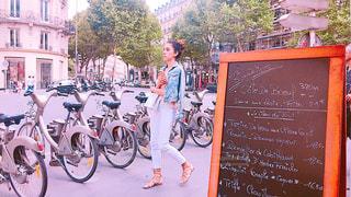 パリの街中の写真・画像素材[1277679]