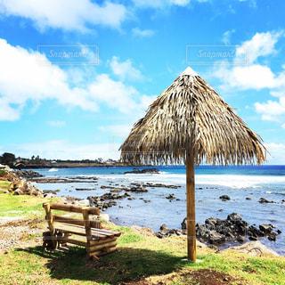 チリ、イースター島でひと休みの写真・画像素材[1278189]