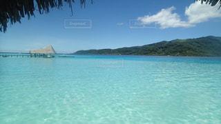 タヒチ タハア島 水上コテージからの眺めの写真・画像素材[1283572]