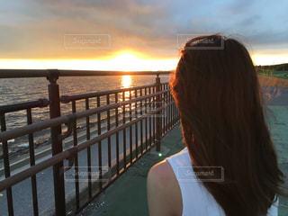 空と海と美女との写真・画像素材[1279853]