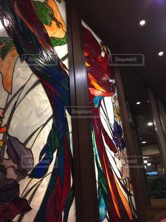 飲食店のステンドグラスの写真・画像素材[1309029]